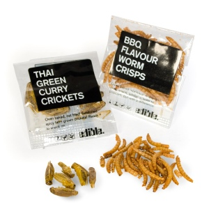 Insect snacks: Baked crickets and mealworms